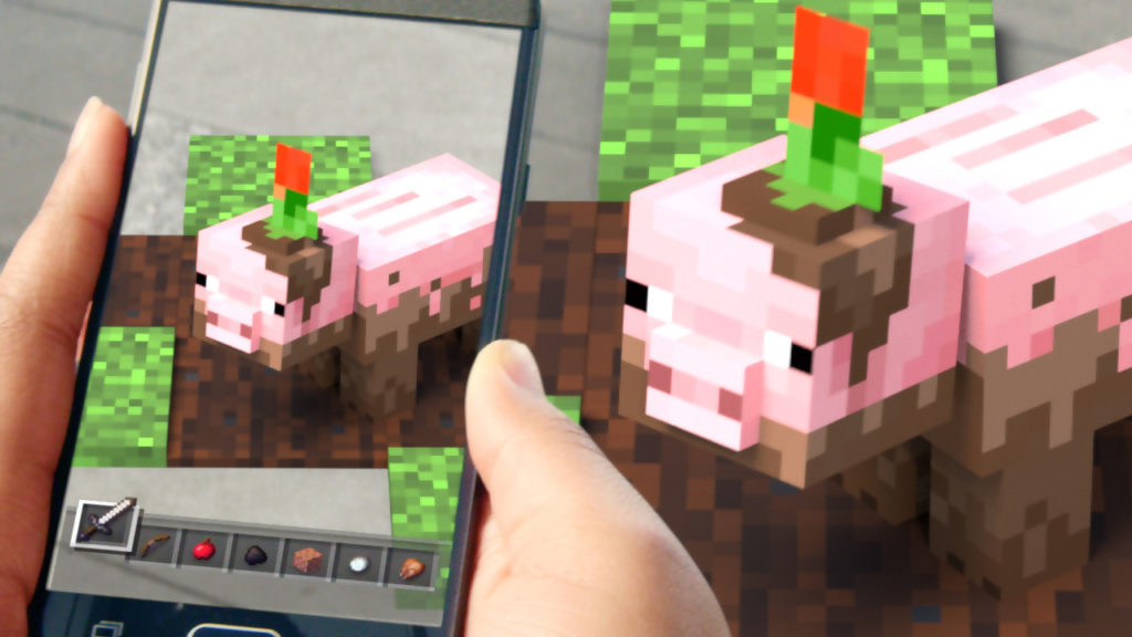 """Tappables"""" in Minecraft Earth."""