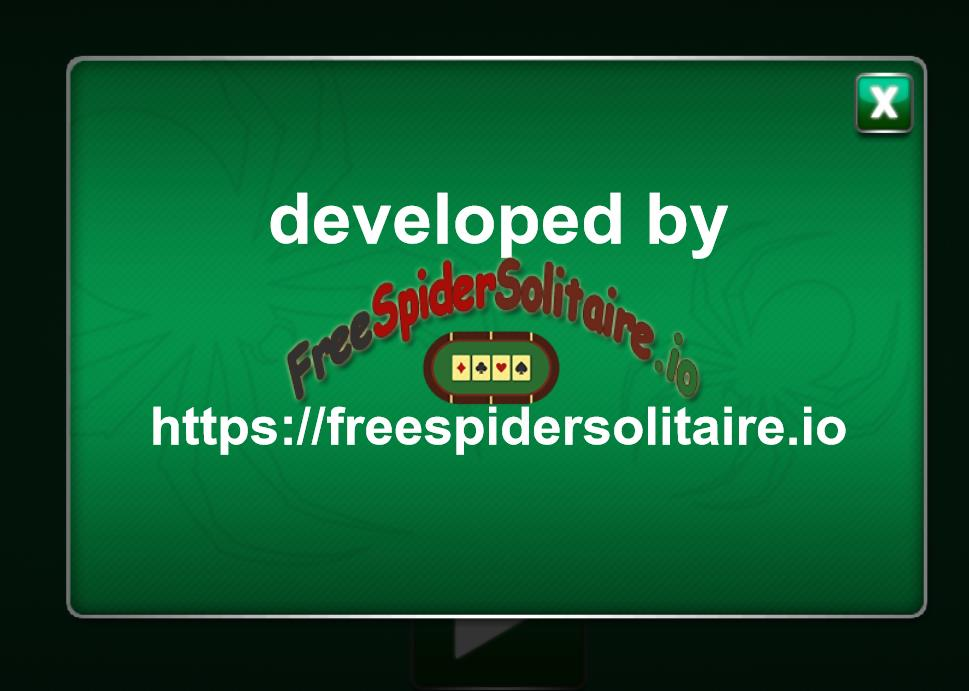 Free Spider Solitaire.